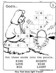 A05 TOPIC 1 - God is - Crossword - The Bible Tells Me So.png