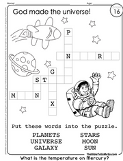 A16 TOPIC 2 - God Made the Universe - Crossword - The Bible Tells Me So.png