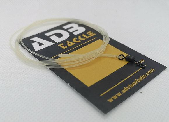 Leadcore fluorocarbon 1m 45lb avec attache rapide