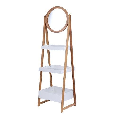 ELVIRA 3 Tiers storage rack w/mirror