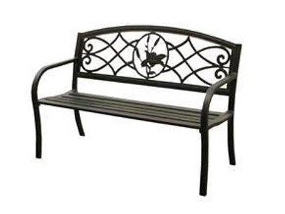 LIRIO Outdoor bench with arms 128cm