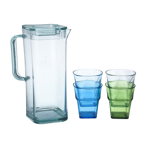 PORTIA pitcher+tumbler 5 pcs./set