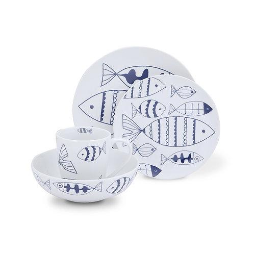 DARNO Dinnerware 4 pcs 白色一套4件餐具