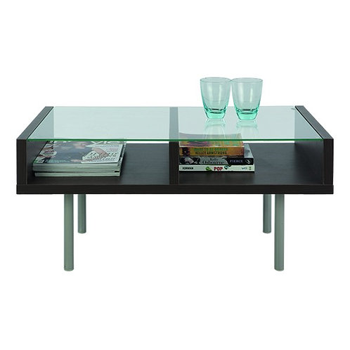 DUO/P Glass Coffee table 80 cm