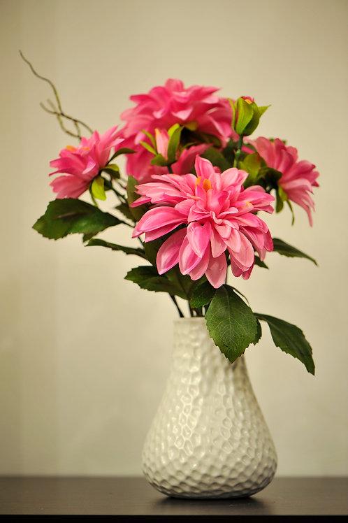 Dahlia In Ceramic Pot