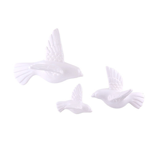 BIRDIE Wall decoration 3 pcs./set