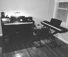 My little home studio where I record everything.