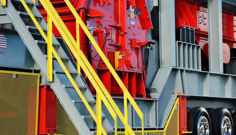 Portable Crushing Station Access Ladder