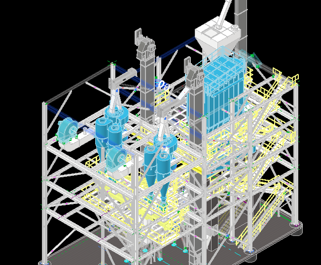 3-D Rendering of Hydrated Lime Plant