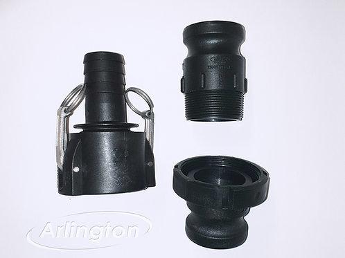 DN50 Hosetail Cam Coupler set