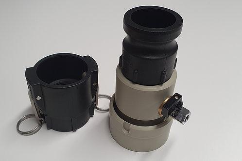 Air purge connecting adaptor