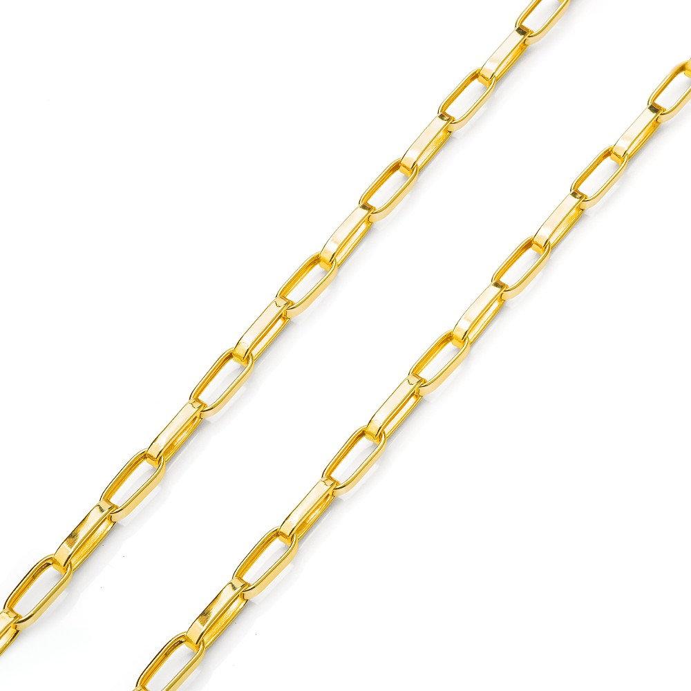 5566ce3bbb0 Corrente Cartier (Cadeado Quadrado) em Ouro 18k OCO 9 gramas