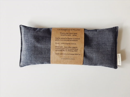 Indigo Lavender eye pillow Organic Cotton