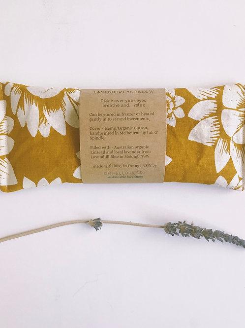 paper daisies lavender eye pillow mustard