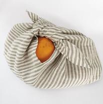 Linen ticking azuma bukuro bags or bento