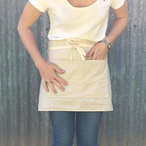 Cotton/Linen half apron - Sand
