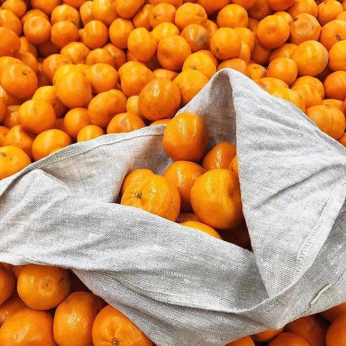 Natural Linen Azuma bukuro / bento project, produce, gift bag in linen