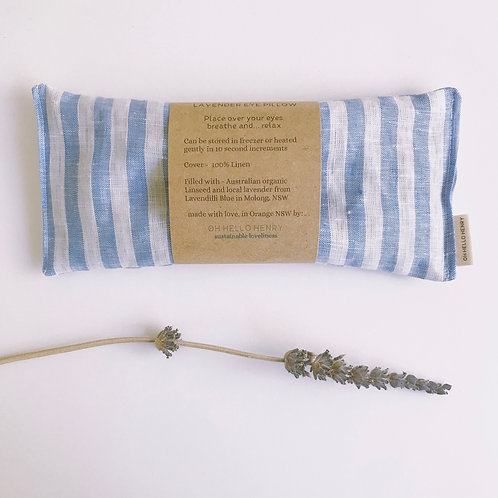 striped lavender eye pillow  - blue & white linen