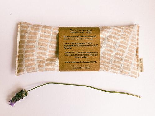Grass in pink lavender eye pillow