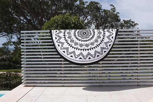Roundie Towel - Black