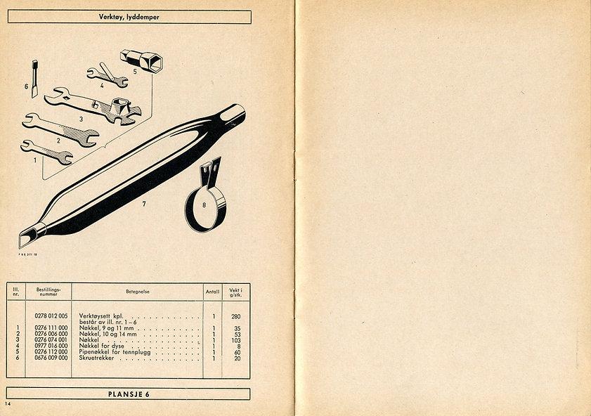 Motordelebok Saxonette 110, 1962 mod. Mo