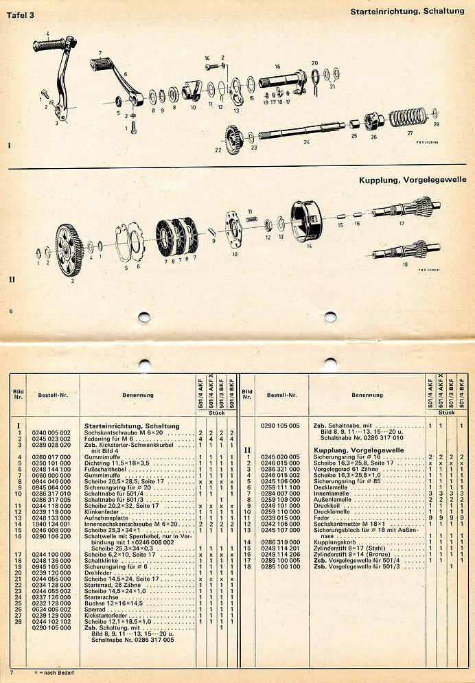 Motordelebok Panter 340-350-360 Safir 40