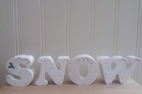 """Snow"" Wooden Craft"