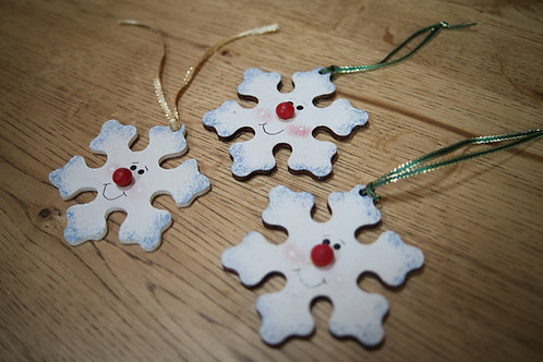Wooden Crafted Snowflakes