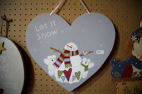 """""""Let it Snow"""" Wooden Craft"""