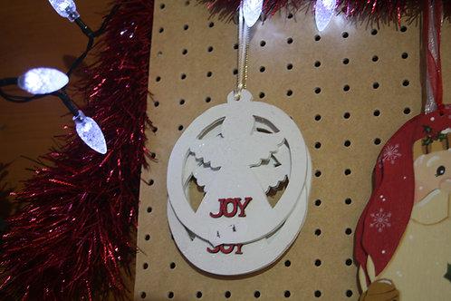 """Joy"" Christmas Hanger"