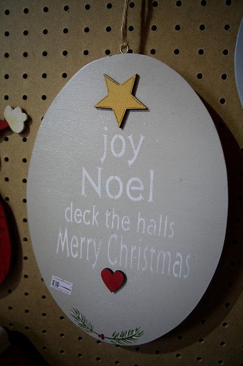 """""""Joy, Noel, Deck the Halls"""" Wooden Craft"""