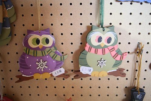 Christmas Hanging Owl