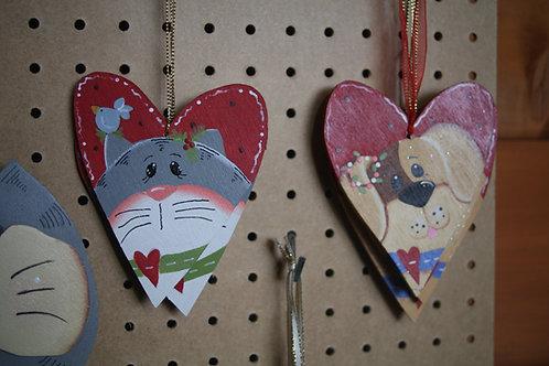 Christmas Heart Hanger