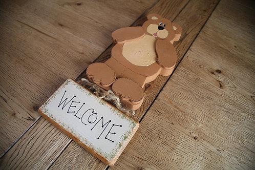 Bear Welcome Sign Hanger