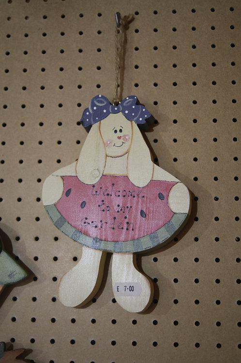 """Welcome to my Garden"" Wooden Craft"