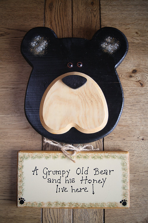 Bear Sign Hanger