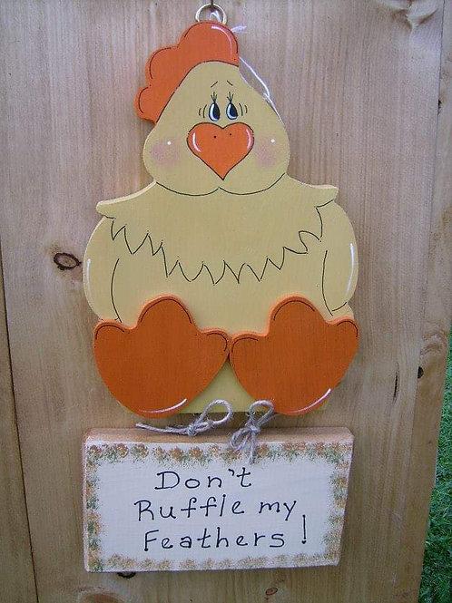 Wooden Crafted Chicken Hanger