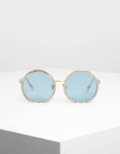 bcdad0d5e2d8 Charles & Keith: Cut-Off Round Sunglasses