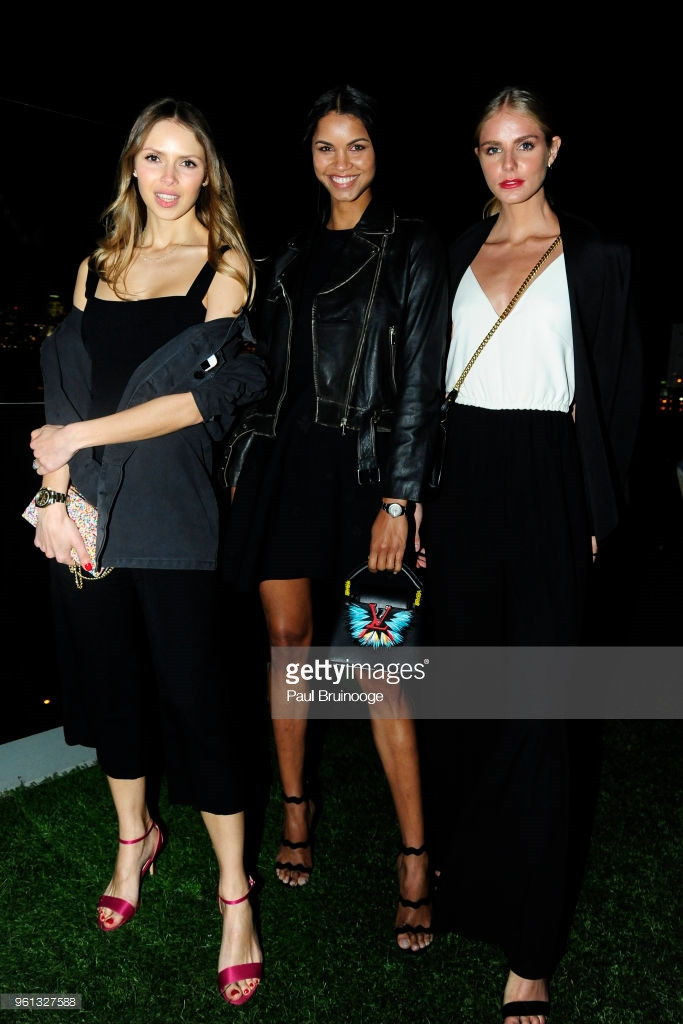 NEW YORK, NY - MAY 21: Karina Hoffman, Daiane Sodre and Luna Castilho attends The Cinema Society With Nissan & FIJI Water Host The After Party For 'Solo: A Star Wars Story at Le Bain & Rooftop at The Standard on May 21, 2018 in New York City.