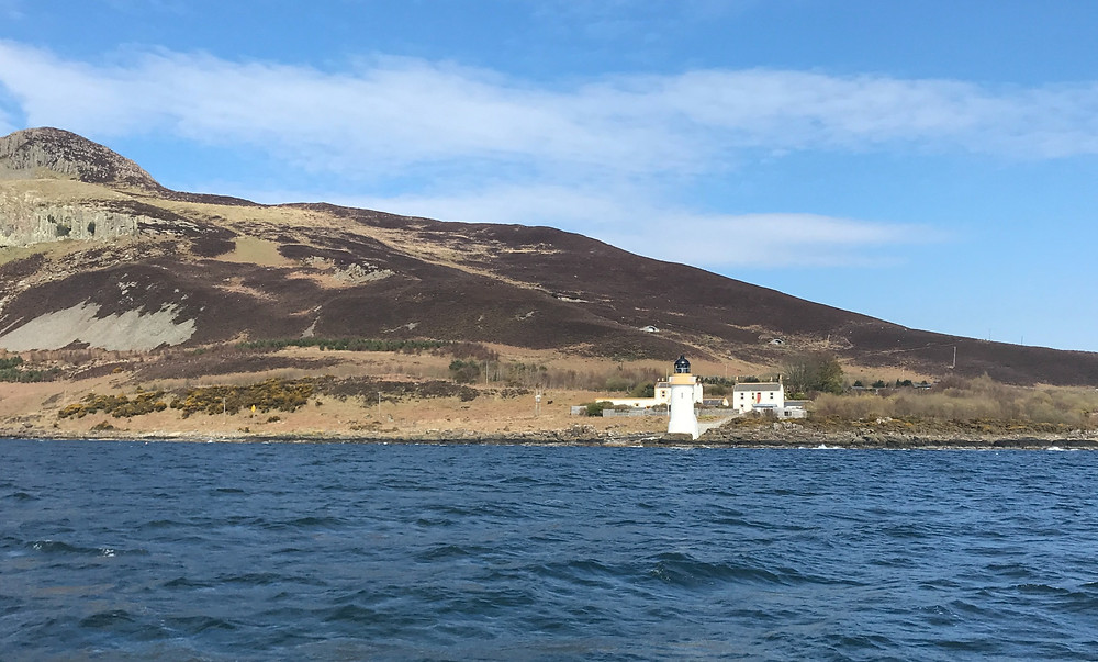 Passing Corswall Lighthouse on Fyne Explorer