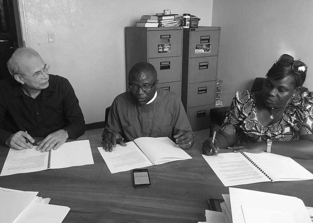Monrovia januar 2017: Hvert år gjennomgås og fornyes avtalene vi har med LAC/UMC.