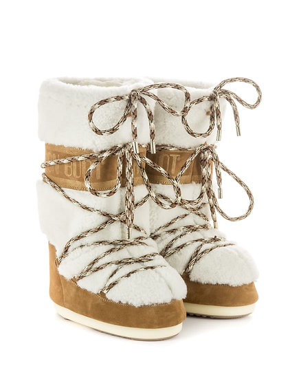 MOON BOOT SHEARLING   WHISKY/OFF WHITE   CLASSIC FASHION   THE ICON   WOMEN