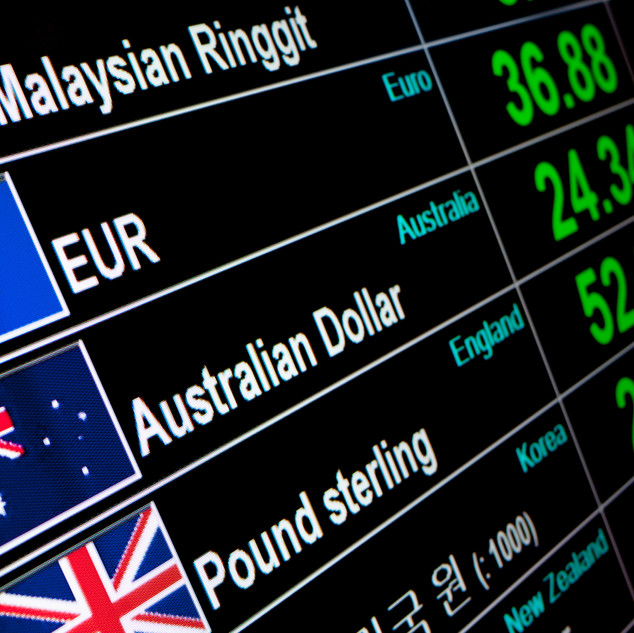 currency exchange rate on digital LED di