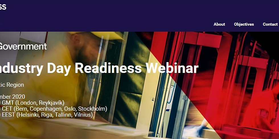 UK Industry Day Readiness Webinar
