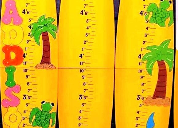 "5'6"" Folding Surfboard GrowthChart - Yellow/Orange"