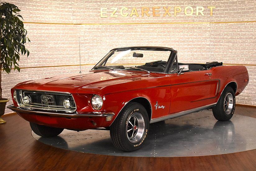 Mustang cabriolet  1968 / intérieur deluxe