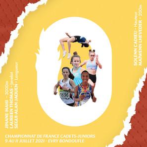 Championnats de France Cadets-Juniors un week-end à record !