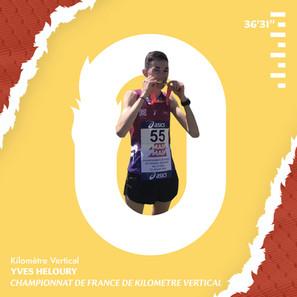 Yves Heloury Champion de France de Kilomètre Vertical