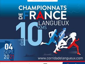 Langueux support des championnats de France de 10km sur route 2021