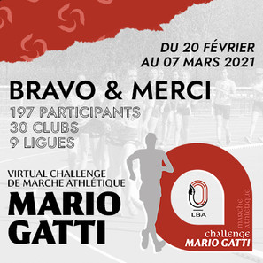Virtual Challenge de marche Mario Gatti : une belle participation